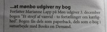 Omtale af udgivelse i lokalbladet